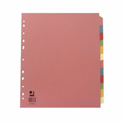 A4 Extra Wide Subject 12 Part Divider - Filing Stationery