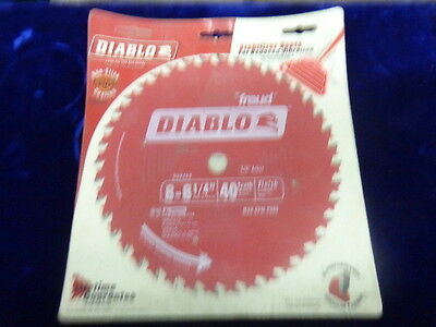 "Freud D0840X Diablo 8-1/4"" 40 Tooth ATB Finishing Saw Blade with 5/8"" Arbor"