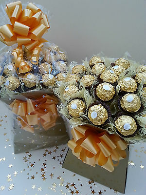 Ferrero Rocher Chocolate Bouquet Gold Sweet Tree Explosion Hamper - Perfect Gift