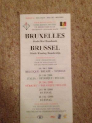 Euro 2000 Finals in Belgium & Holland - The Befoot Guide to Brussels -