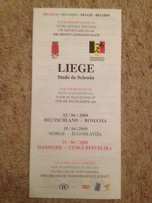 Euro 2000 Finals in Belgium & Holland - The Befoot Guide to Liege