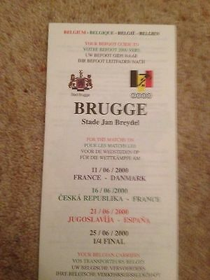 Euro 2000 Finals in Belgium & Holland  - The Befoot Guide to Brugge