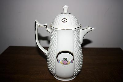 """Beautiful & Rare Donegal """"Claddagh"""" Parian China Handcrafted Coffee Pot"""