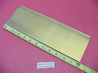 "1/4"" x 4"" C360 BRASS FLAT BAR 12"" long Solid Mill Stock H02 .250""x 4.0""x 12"""