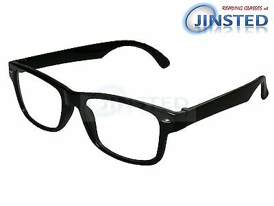 Black Reading Glasses Wayfarer Spectacles Specs Readers Long Sighted RG034