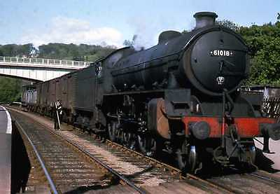 Colour Rail slide BRE 199  B1 61018  at Sleights in May 1964