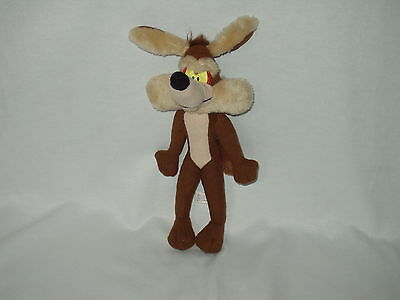 """WILE E COYOTE warner bros / ace novelty 11"""" stuffed character figure toy 1995"""