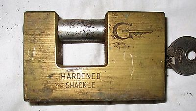 Vintage G  Shackle / Padlock Heavy Duty All Working With Key