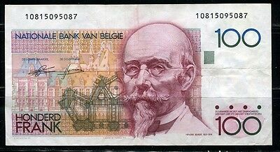 Paper Money Belgium 1978-81 100 francs