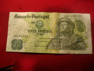 Paper Money Portugal 1971 20 escudos HQ49012