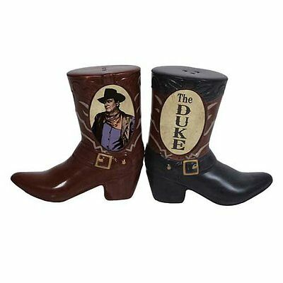 John Wayne Cowboy Boots Ceramic Magnetic Salt & Pepper Shakers