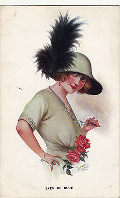 Laurence Miller  Fashion Lady With Hat    #2 Of 6 Set    Eyes Of Blue