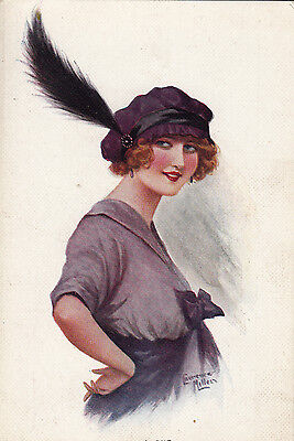 Laurence Miller  Fashion Lady With Hat  # 3 Of 6 Set   All Alone