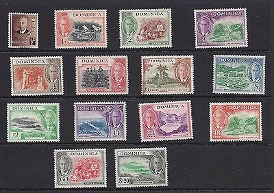1951  Dominica  Sc#122-135 Partial Set Mint Hinged