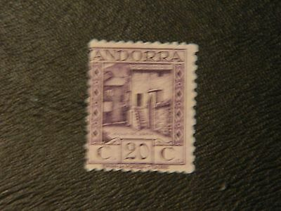 Andorra Stamp SG 18B MM issued 1931-38 Perf 11.5 value 20c Spanish Post Offices.
