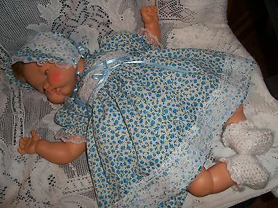 """Doll Clothes for 19""""/20"""" Large Thumbelina """"Pretty in Blue Dress Set"""" by Maureen"""