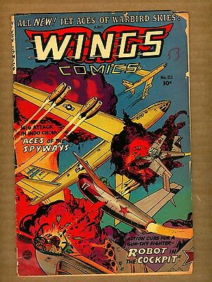 Wings Comics 121 (FR-) 1953 Fiction House  jet aces of warbird skies! (c#08790)