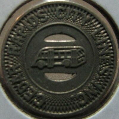 1948 Cedar Rapids, IA City Lines Inc. Transit Bus Token - Iowa
