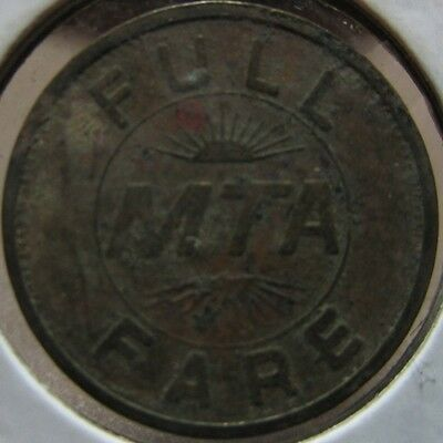 1983 MTA Des Moines, IA Full Fare Transit Bus Token - Iowa