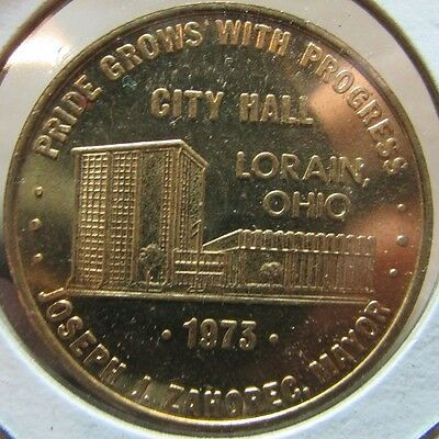 1973 City Hall Lorain, OH Good Luck Token - Ohio