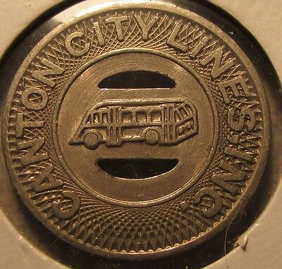 1948 Canton, OH City Lines Inc. Transit Bus Token - Ohio