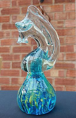 Mdina (Malta) Glass Seahorse Paperweight- Height 16Cm - No Chips Or Cracks