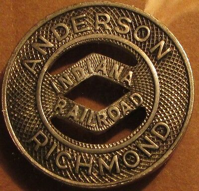 1944 Indiana Railroad Anderson, IN Richmond Transit Trolley Token - Ind. Indiana
