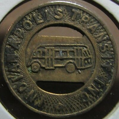 1945 Indianapolis, IN Transit Inc. Trolley Token - Ind. Indiana