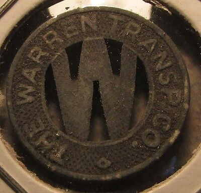 1941 Warren, OH Transp. Co. Transit Bus Token - Ohio