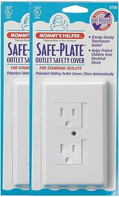 Mommys Helper 25-Pack Bulk Safe Plate Electrical Outlet Covers Standard, White