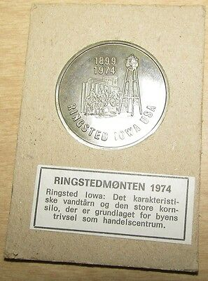 1974 Ringsted, IA and Ringsted, Denmark Sister Cities Token