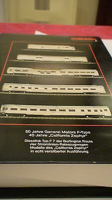 Z Gauge Marklin 8189 California Zephyr Box Set Limited Edition