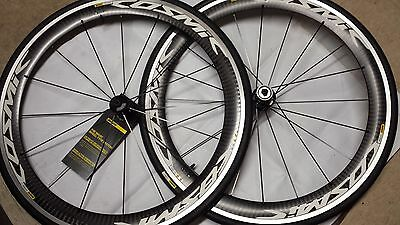 Mavic Cosmic Pro Carbon racing Road Bicycle Cycling WheelSet New White 700C 11