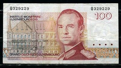 Paper Money Luxembourg 1980s 100 francs