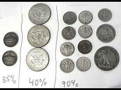 Bargain Junk Silver Diff.  35% & 40% & 90% ** Mixed Lot * Read About Half Dollar
