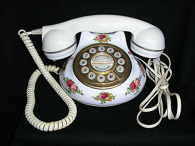 """Royal Albert """"old Country Roses"""" Telephone In Working Order No Reserve"""