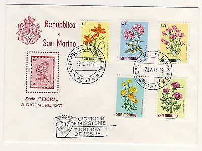 1971 - San Marino - First Day Cover - Flowers - Used