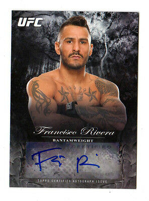 FRANCISCO RIVERA 2014 TOPPS UFC BLOODLINES FIGHTER AUTOGRAPHS #ed 034 /245