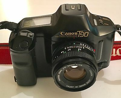 Canon T90 Film Camera & Canon FD 50mm F1.8 M/F Lens - Excellent Condition
