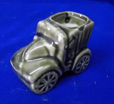 Vintage Tiny Little Green Antique Auto Planter!  WOW what an Oddity