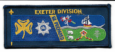 Girl Guiding Exeter Division  Cloth Standard Badge