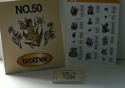 Brother Embroidey Machine Card No 50 (Fairies/flowers  Etc)