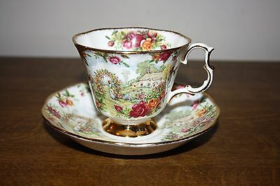 """Royal Albert """"Celebration Of Old Country Roses Garden"""" Tea Cup And Saucer"""