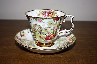 """Royal Albert """"Celebration Of Old Country Roses Garden"""" Tea Cup And Saucer #3"""