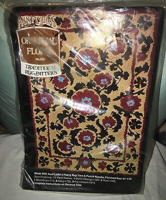 Aunt Lydia's Traditional Rug Pattern Oriental Floral No 503 Sealed