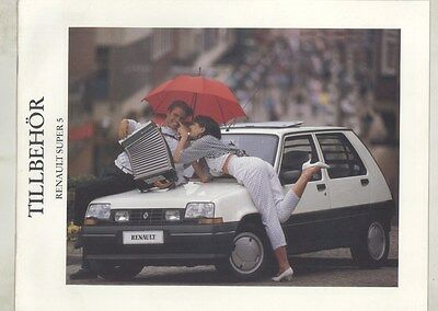 1988 1989 Renault Super 5 Brochure Swedish ww5041