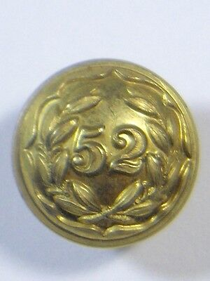 52nd (Oxfordshire) Foot original Officers Medium Victorian Button.