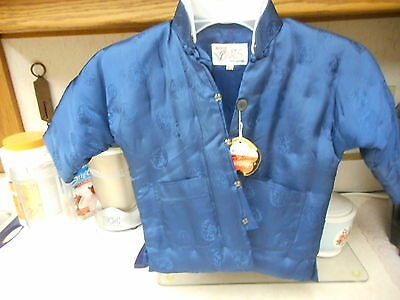Child's oriental Chinese quilted jacket, never has been worn & has original tag.