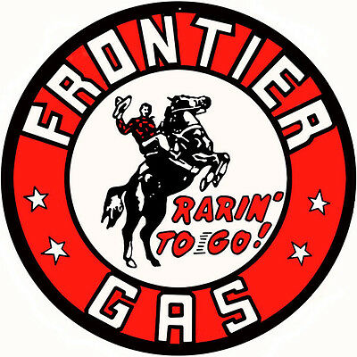 Frontier Gas Station Motor Oil Reproduction Metal Sign