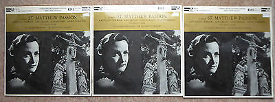 Bach St Matthew Passion 3Lps Acl 109/111 Ferrier Greene Suddaby Jacques Orch